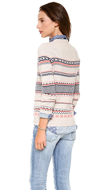 Madewell Cora Fair Isle Wool Sweater
