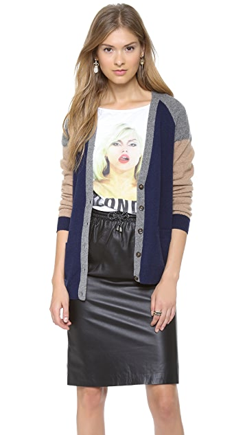 Madewell Colorblock Grant Cardigan Sweater