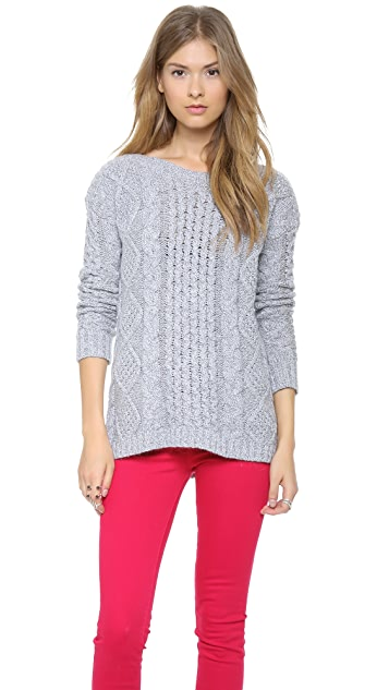 Madewell Boat Neck Cable Pullover