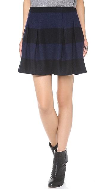 Madewell Striped Wool Mayle Skirt