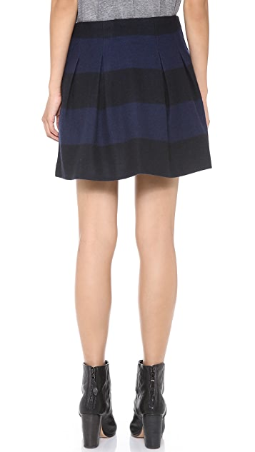 Madewell Striped Wool Mayle Skirt