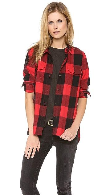 Madewell Buffalo Check Ex BF Shirt