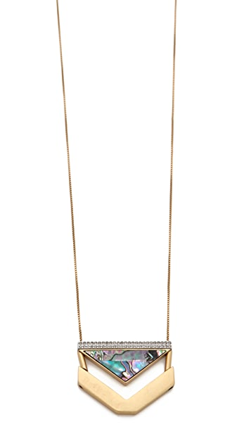 Madewell Seastone Arrow Necklace