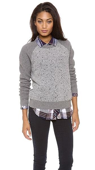 Madewell Boucle Panel Sweater
