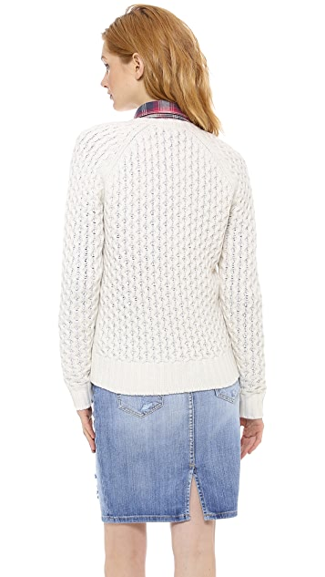 Madewell Honeycomb Sweater Jacket
