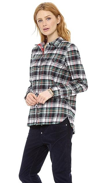 Madewell Ex BF Flannel Plaid Boyshirt
