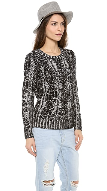 Madewell Plaited Cable Pullover