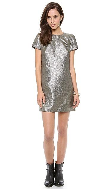 Madewell Metallic T Shirt Dress