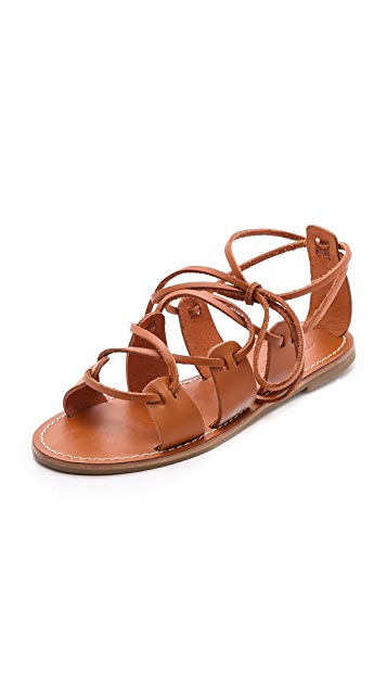 Madewell Kahlahari Laced Gladiator Sandals