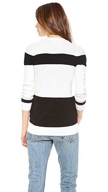Madewell Inlet Cardigan in Colorblock