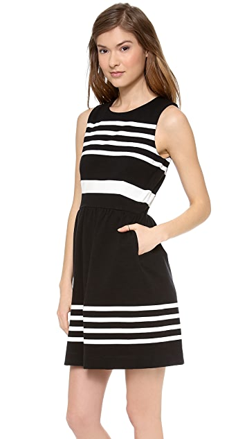 Madewell Afternoon Dress in Saltwater Stripe