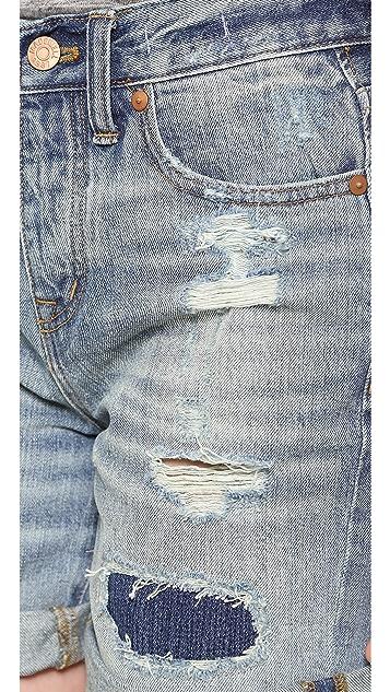 Madewell Destroyed Boy Shorts