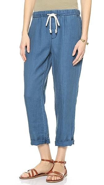 Madewell Indigo Linen Drawstring Pants