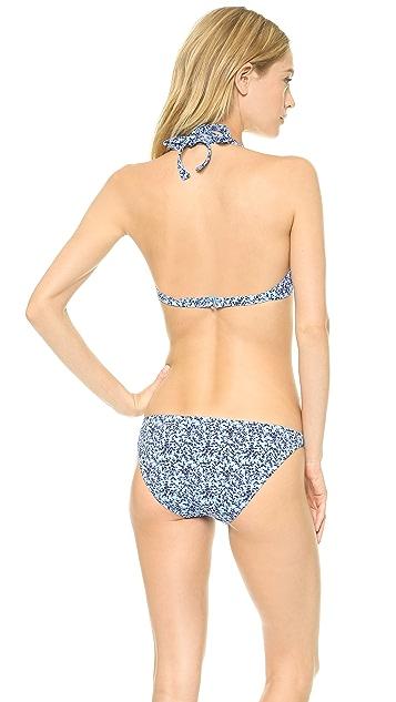Madewell Bikini Top In Miniflora