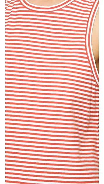 Madewell A Line Tank in Mini Stripe