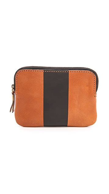 Madewell Small Pouch with Painted Stripe