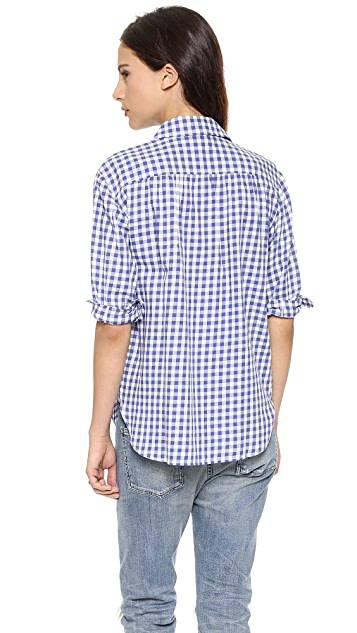 Madewell Blue Gingham Button Down