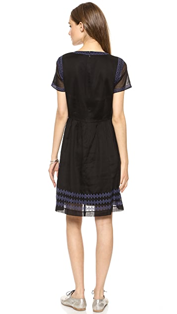 Madewell Augustine Embroidered Dress
