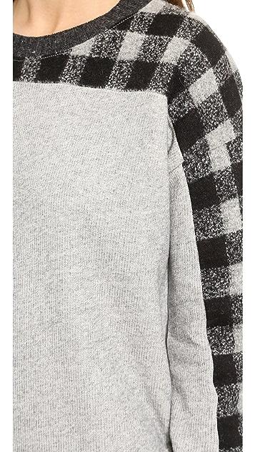 Madewell Boiled Wool Yoke Sweatshirt