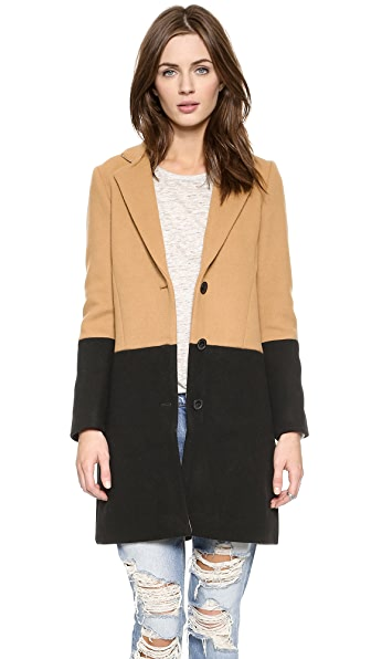 Madewell Coloblock Car Coat
