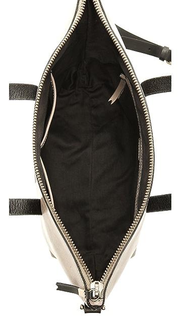 Madewell Striped Zip Transport Bag