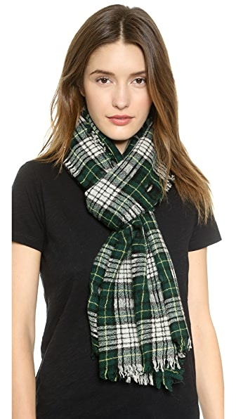 Madewell Cafe Plaid Scarf