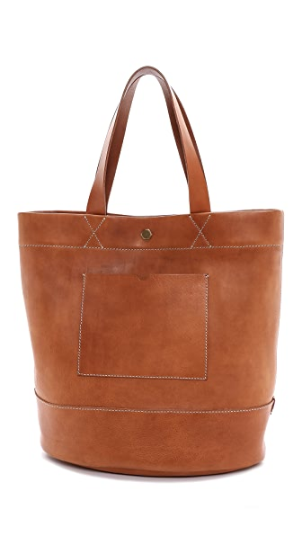 Madewell Rivet and Thread Large Bucket Tote