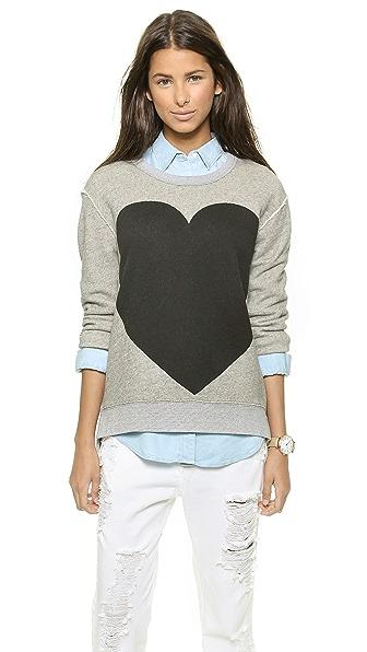 Madewell Hannah Heart Terry Sweatshirt