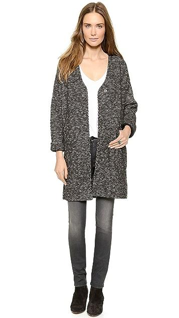 Madewell Cara Bonded Marl Coat