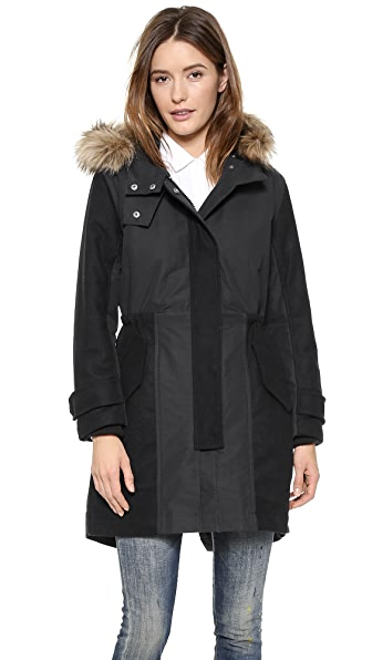Madewell Block Mix Parka