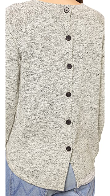 Madewell Marled Button Back Sweater