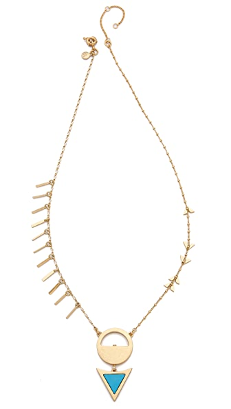 Madewell Triangle Dart Layering Necklace - Beachside Blue