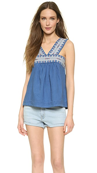 Madewell Embroidered Siesta Top