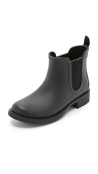 Madewell Chelsea Rain Booties In True Black