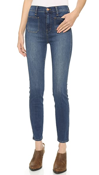 Madewell High Rise Skinny Sailor Pocket Jeans