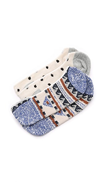 Madewell Dot Kilim No Show Sock Set
