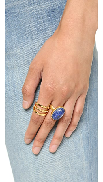 Madewell Oval Moon Statement Ring