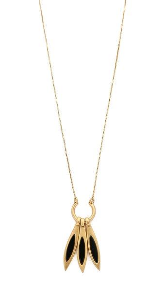 Madewell Sara Fringe Pendant Necklace