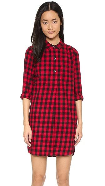 Madewell Jane Plaid Flannel Shirtdress