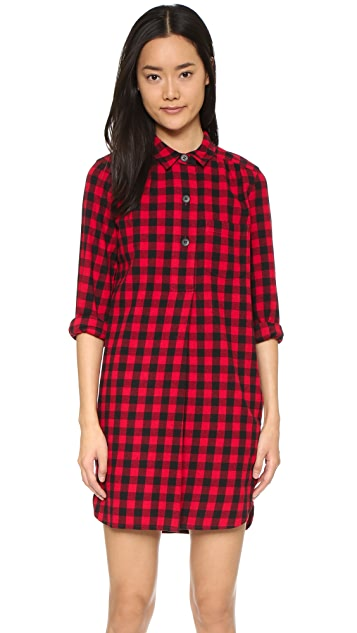 Madewell Jane Plaid Flannel Shirtdress