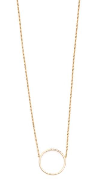Madewell Pave Circle Necklace