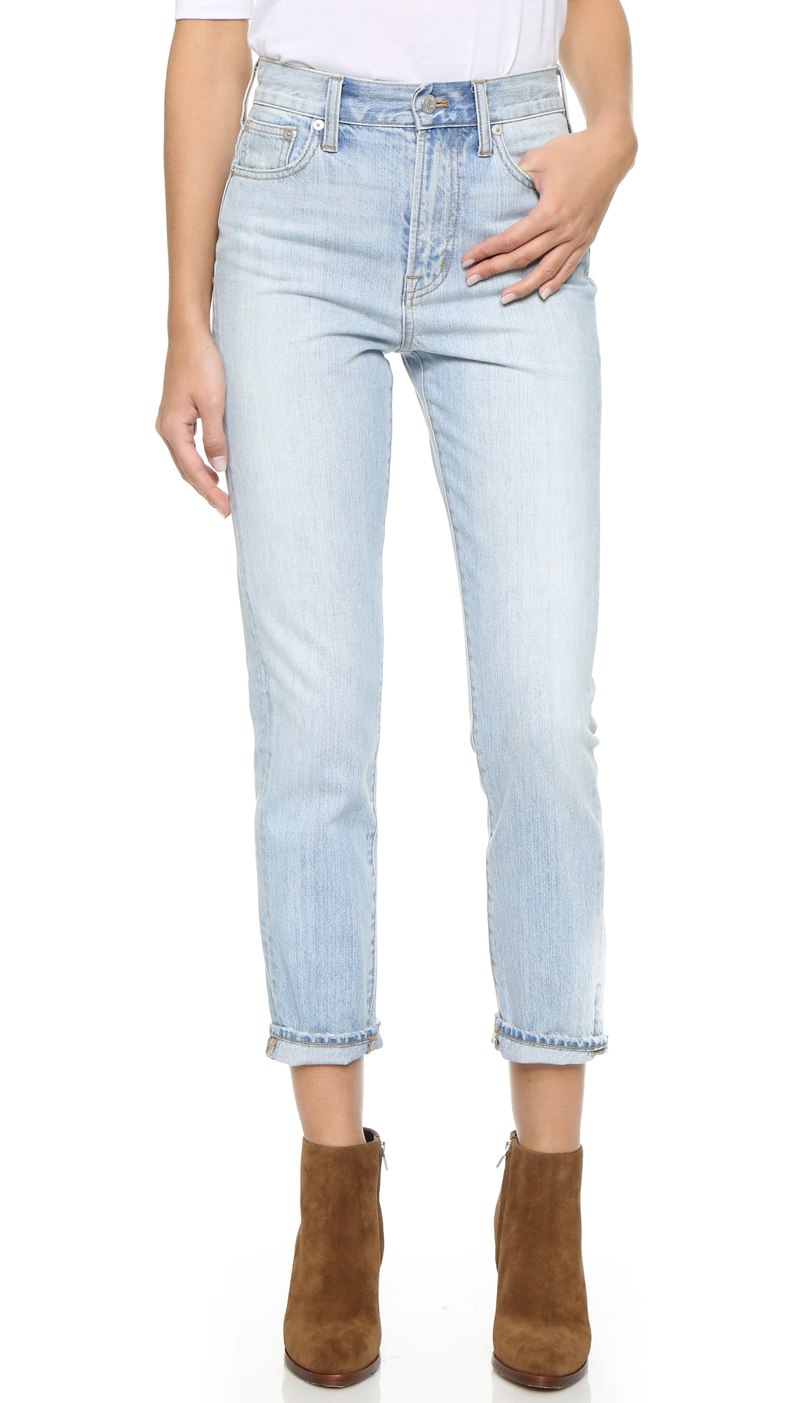 Madewell Perfect Summer Jeans In Fitzgerald Wash