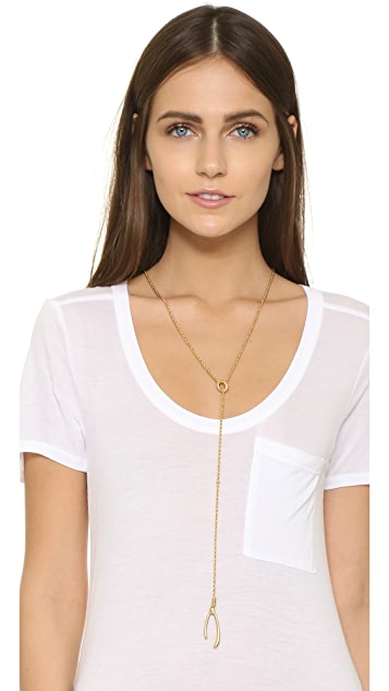 Madewell Wishbone Lariat Necklace