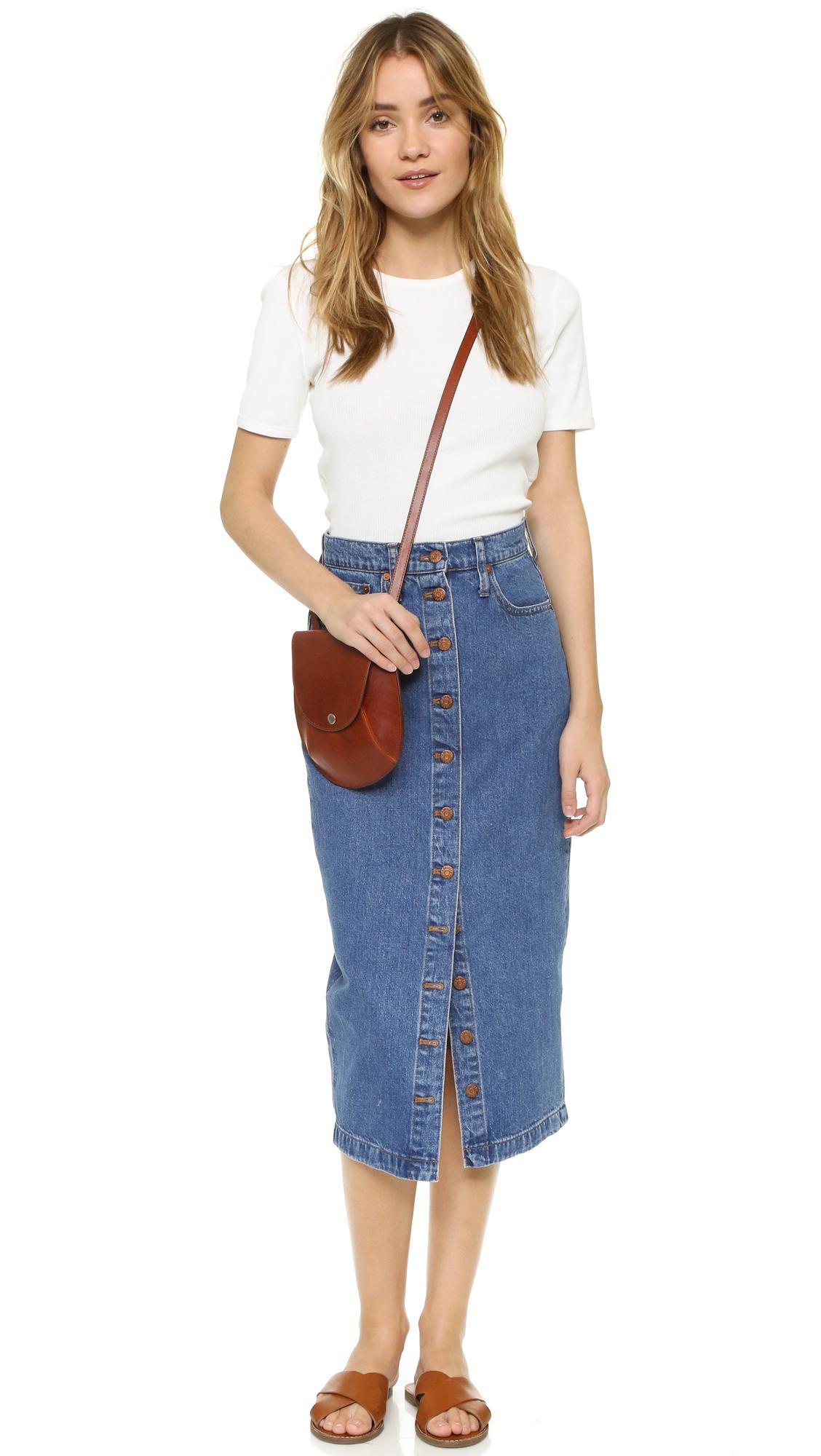 Madewell Denim Midi Skirt | SHOPBOP