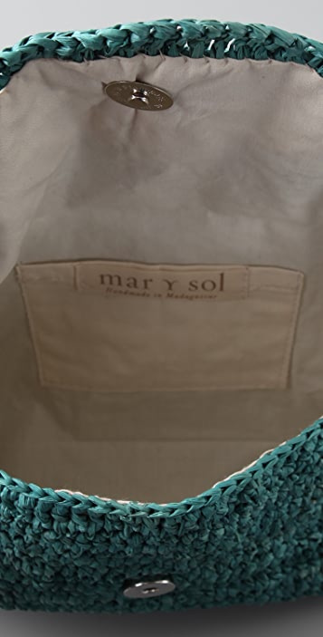 Mar Y Sol Marcella Raffia Clutch