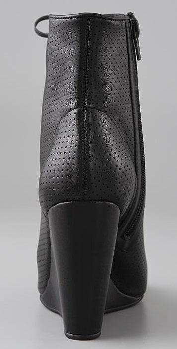 Madison Harding Rockaway Perforated Wedge Booties