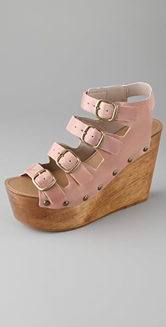 Madison Harding Samson Wooden Platform Sandals