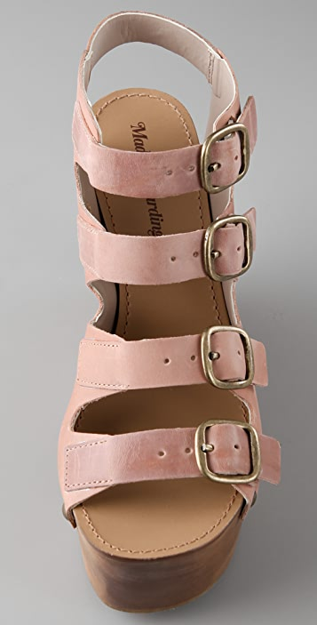 Madison Harding Samson Wooden Platform Sandals