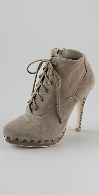 Madison Harding Clay Lace Up Booties