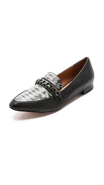 Madison Harding Skip Chain Flat Loafers